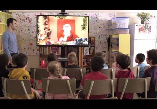 Santa Claus is coming, by video-conference