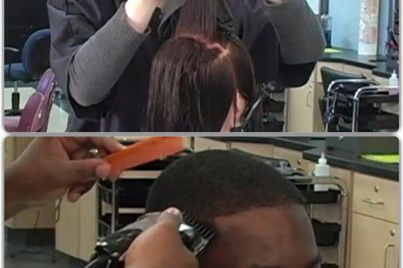 Deux techniques de coupe de cheveux