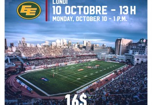 Attend a Montreal Alouettes football game and support our students at the same time!